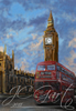 Greetings from London in digital fine art painting