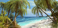 Dreaming of tropics in fine art digital painting