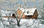 Frozen life in digital fine art painting