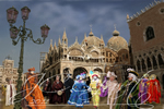 Mardi Gras a Venise in digital fine art painting
