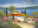 Sul lago di Garda in digital fine art painting