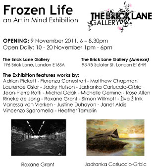 Opening for contemporary art exhibition Frozen Life, an Art in Mind Exhibition